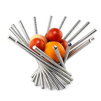 Stainless Steel Fruit Basket Creative Rotating Fruit Basket