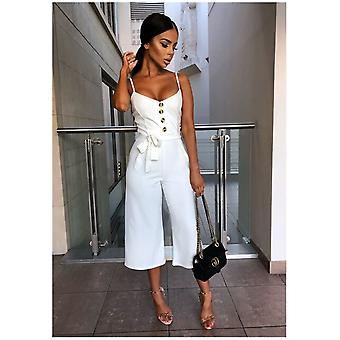 Jumpsuit With Sleeveless Buttons