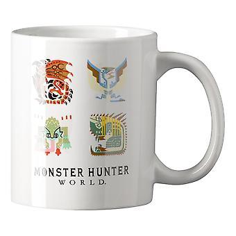 Monster Hunter World Monster ikoner 320ml mugg