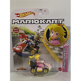 Prinsesse Fersken Standard Kart Mario Kart Hot Hjul 1:64 GBG28