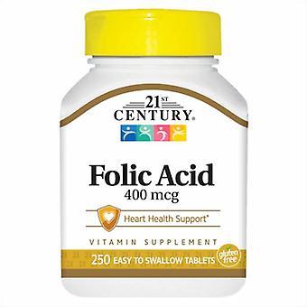 21st Century Folic Acid, 400 mcg, 250 Tabs
