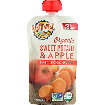 Earth's Best Baby Puree Swt Pto Apple, Case of 6 X 4 Oz