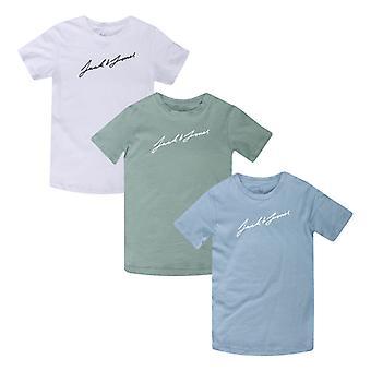 Jack Jones Junior Jax 3 Pack T-Shirt Bambino in Bianco