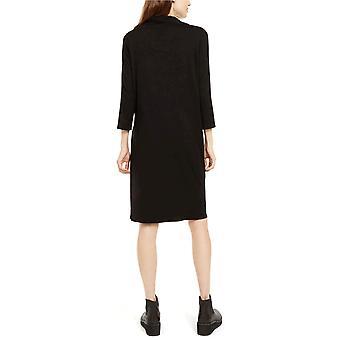 Eileen Fisher Womens Cowlneck Shift Dress, Regular & Petite -