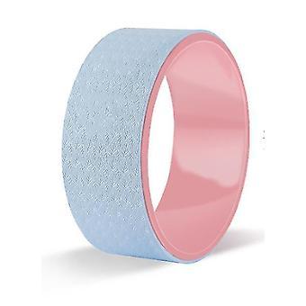 Yoga Wheel Pilates Ring Sports Fitness Equipment(Blue+pink)