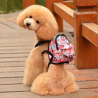 Pet Bag hátizsák aranyos rózsaszín szív / szép kék állat hátizsák pórázzal