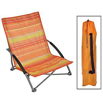 HI Beach Chair Foldable Orange 65 × 55 × 25/65 cm