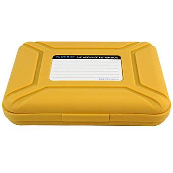 Phx-35 3,5 inch SATA SSD HDD harde schijf schijf opslag behuizing Case Box Protector GEEL