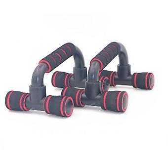 פוש-אפ בצורת I חזה מכונת כושר פנים אימון חזה קצף שכיבות סמיכה(אדום)
