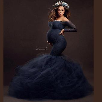 Robe de grossesse sexy en dentelle. Accessoires de photographie Maxi Gown