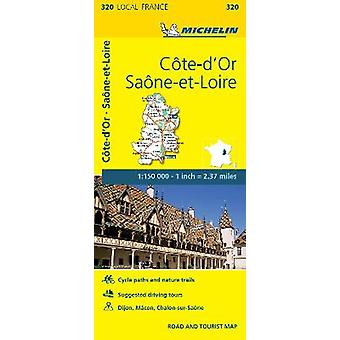 Coted'Or SaoneetLoire  Michelin Local Map 320 Map Michelin Local Maps 320