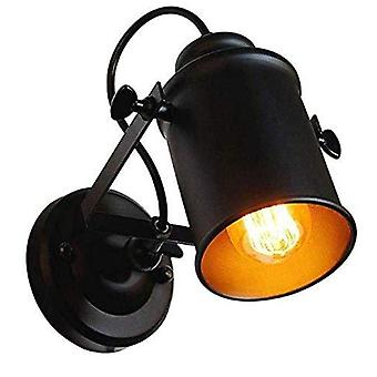 Wall Light Black Retro LED Ceiling Spotlight Adjustable Wall