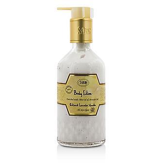 Loción corporal de Sabon - pachulí lavanda vainilla (con bomba) 200ml / 7oz