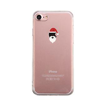 Santa On Apple Transparent Phone Case Cute Clear Phonecase