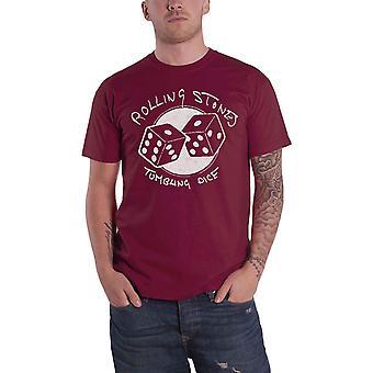 Rolling Stones T Skjorte Tumbling Terningband Logo Ny Offisiell Maroon Rød