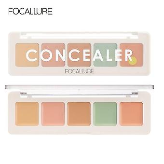 5 Farben Concealer Platte für Gesicht machen Longstay Contouring Foundation Concealer Creme| Body Glitter