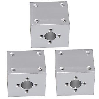 3 Stück Silber t8 Kugelgewindetriebe Sitzmutterhalterung für CNC-Drehmaschine Durchmesser 10mm