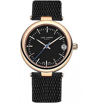 LLarsen (Lars Larsen Black Genuine Leather) 126RBBL Women's Watch