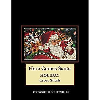 Here Comes Santa: Holiday Cross Stitch Pattern