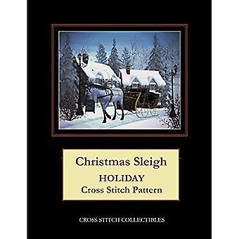 Christmas Sleigh: Holiday Cross Stitch Pattern