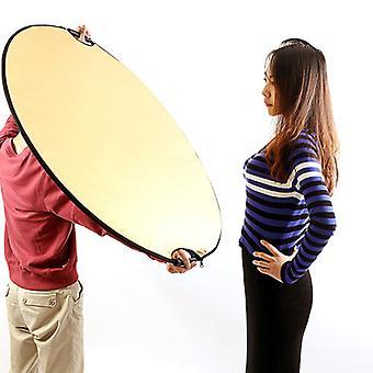 Arany / Sliver Round 5 In 1 Photography Studio Light Mulit összecsukható lemez reflektor