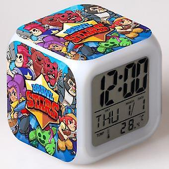 Colorful Multifunctional Led Children's Alarm Clock - Brawl Stars
