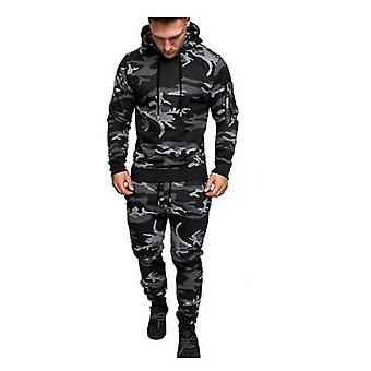 Mens Hooded Pullover With Sports Pants
