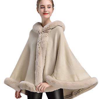 Faux Fur Hooded Casual Warm Jacket
