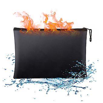 """שקית מסמכים חסינת אש, מצופה סיליקון 24*34 ס""""מ, הגנת רוכסן"""