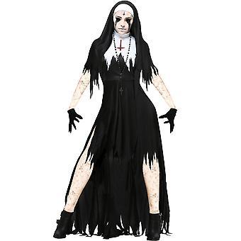 Halloween Cosplay Vampire Demon Nun Costume