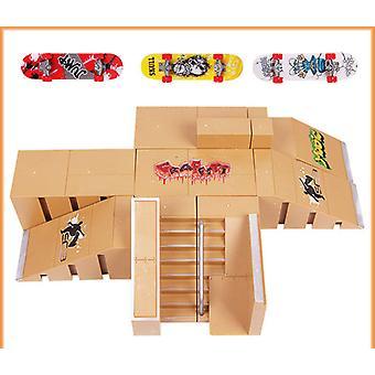 kreative barneleker finger rampe deler skateboard arena rekvisitter matchende kombinasjon arena underholdning leketøy sett