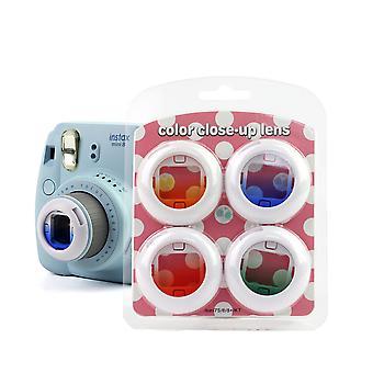 Conjunto de filtro de close-up de cores compatível com Fujifilm Instax Mini 8/8+/7s/kt/9