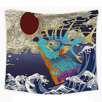 שטיח קיר גלי ים Ukiyo-e שטיח קיר ים יפני