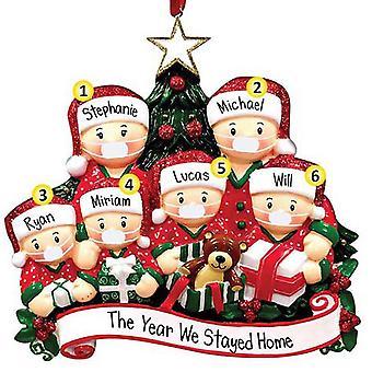 Joulukuusen koriste joulupukin joulupukin perhejuhlat roikkuvat sisustus