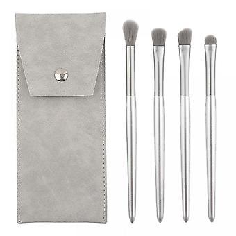 4pcs Makeup Brush Set Eyeshadow Brush Eye Makeup Tool  (silver)