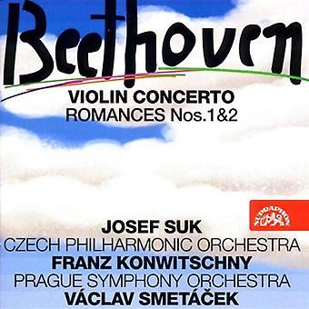 Suk/Knowitschny/Smetacek/Pragu - Beethoven: Violin Concerto; Romances Nos. 1 & 2 [CD] USA import