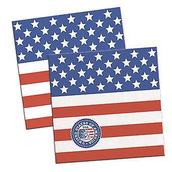 USA Party 16 Servietten Amerika Stars and Stripes Fete Serviette