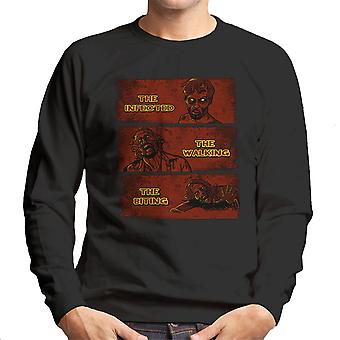 The Infected The Walking And The Biting Dead Men's Sweatshirt