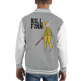 Finn Abenteuer Zeit Kill Bill Kid Varsity Jacke zu töten