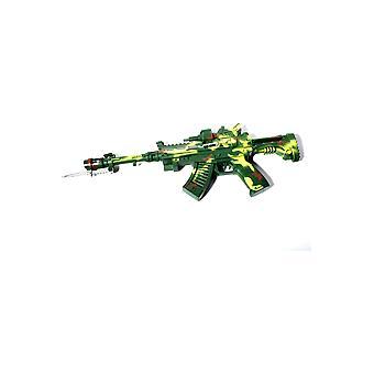 Wapens en hulpmiddelen leger machine gun met licht en geluid
