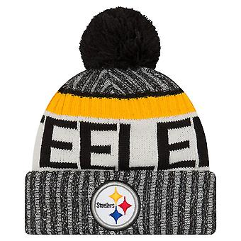 New Era NFL SIDELINE 2017 Bobble Mütze - Pittsburgh Steelers