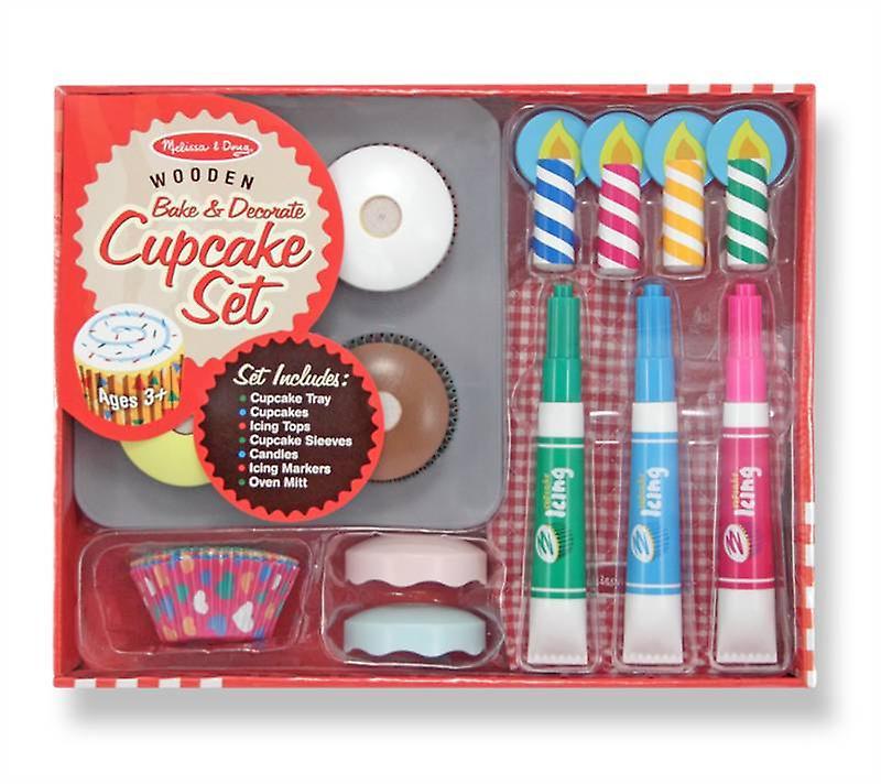 Melissa & Doug Bake and Decorate Cupcake set Age 3+