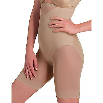 Womens Miraclesuit Shapewear Sexy Sheer Nude Hi-Waist Thigh Slimmer 2789