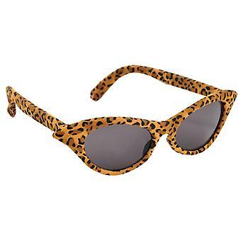 Vintage Leopard glazen zonnebril vrouwen Leodesign