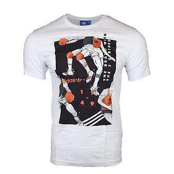 Adidas Originals miesten valkoinen kielen koripallo t-paita AJ7142