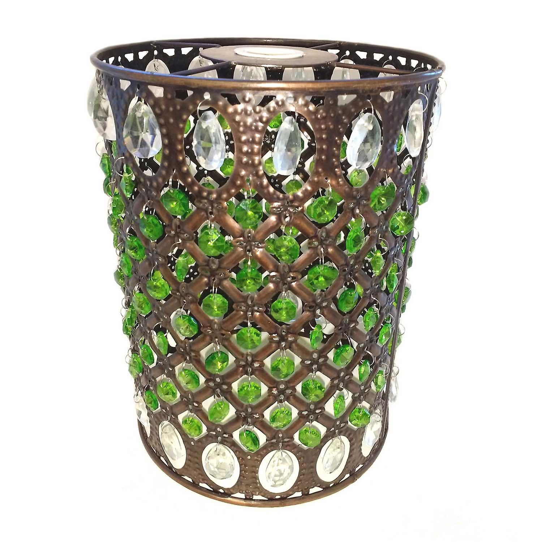 Marokkanische Anhänger Schatten - grün & klar Juwelen & Messing antik