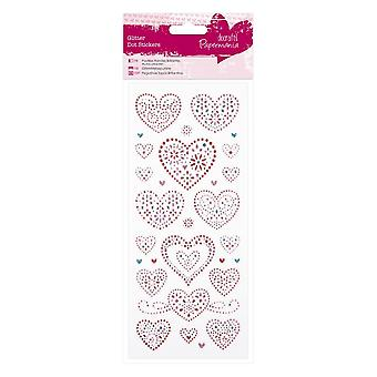 DoCrafts glitter dot stickers love hearts * ^^