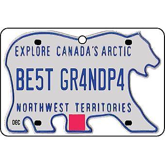 NORDVESTTERRITORIENE - beste bestefar lisens Plate bil Air Freshener