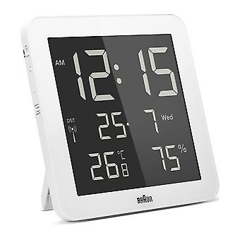 Коричневый цифровые настенные часы BNC014WH-RC-66028
