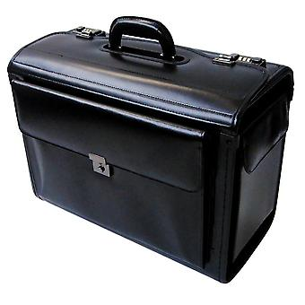 Leather Pilot Case Business Laptop Travel Flight Briefcase Bag Hand Luggage
